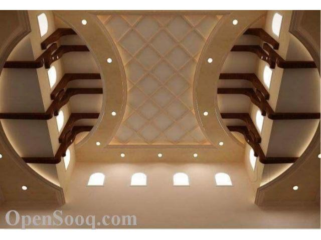 False Ceiling Wall Paper Venyl And Wood Floor Imported