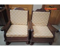 Five seater wooden frame sofa