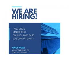 Face book Marketing online jobs available for students to earn at home