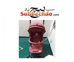 Baby pram and musical rocker nd high chair
