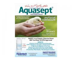 Aquasept poultry water treatments tablets.